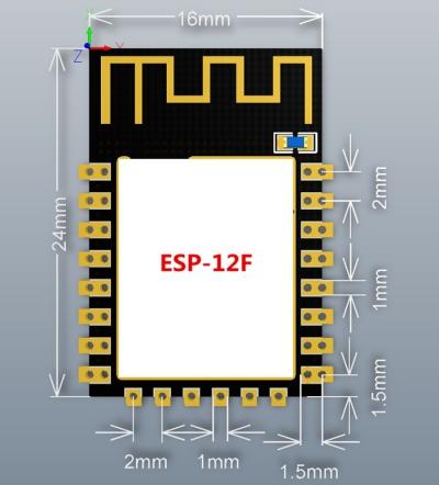 ماژول ESP-12F دارای هسته وایفای ESP8266