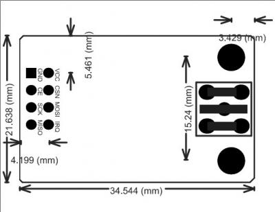 ماژول NRF24L01+PA+LNA با برد 1 کیلومتر