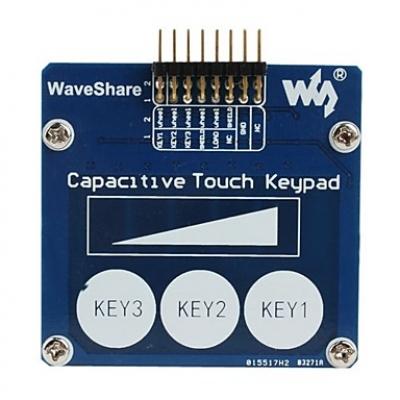 صفحه کلید لمسی خازنی (سه کلید + سنسور خطی)
