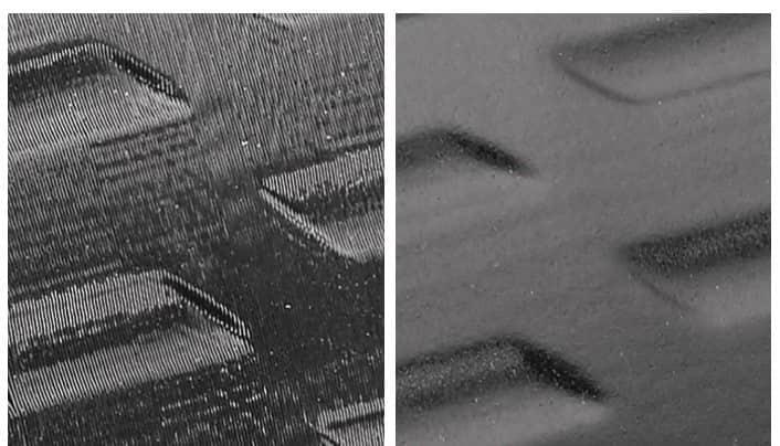 یک قطعه پرینت سه بعدی FDM را مشاهده میکنید که با قرار دادن در معرض بخار حلال، سطح آن براق شده است.