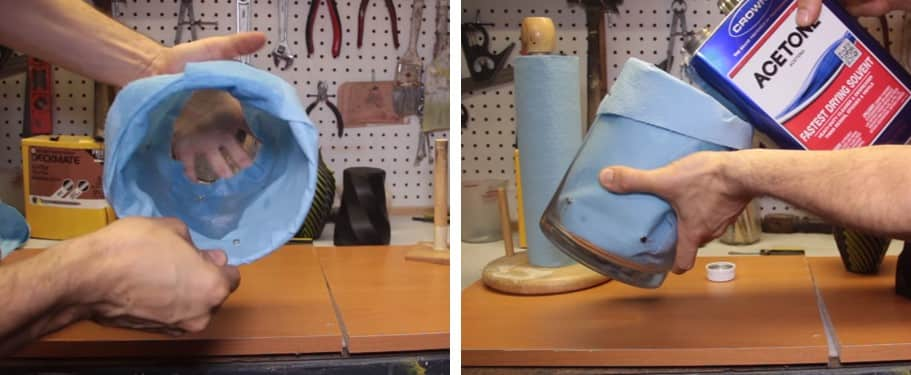 جلا دادن سطح قطعه با بخار حلال